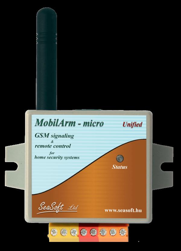 MobilArm-Micro GSM hívó modul feszültségmentes kontaktusos bemenettel