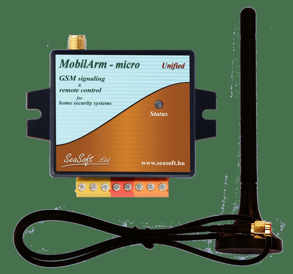 MobilArm-micro-a a biztonságtechnikai riasztóközpontok távjelzésre és távkapcsolásra