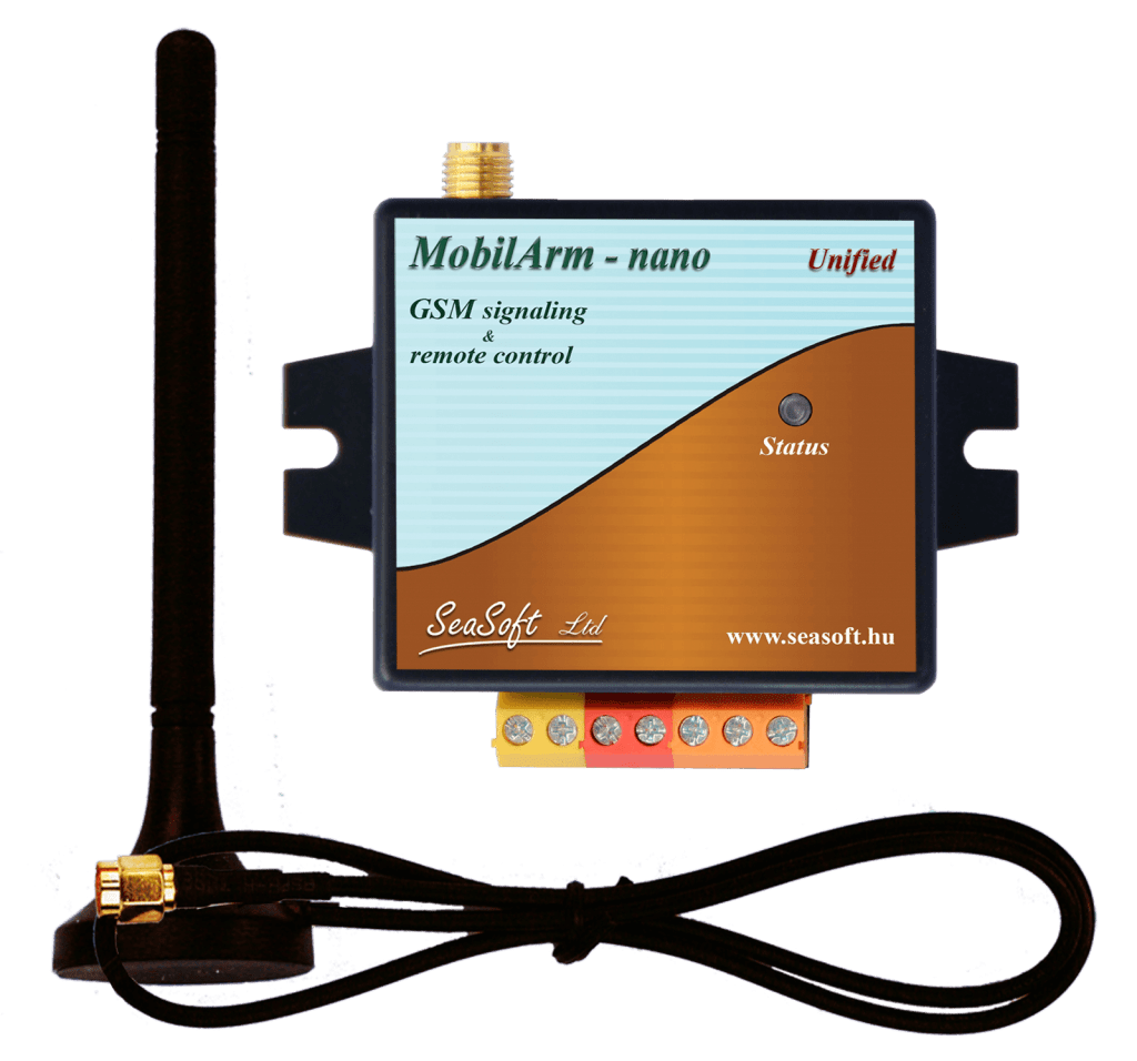 A MobilArm-Nano-a a MobilArm-1 GSM hívó korszerűbb utód terméke