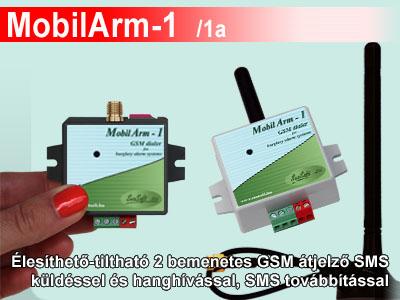 MobilArm-1 2 bemenetes GSM átjelző
