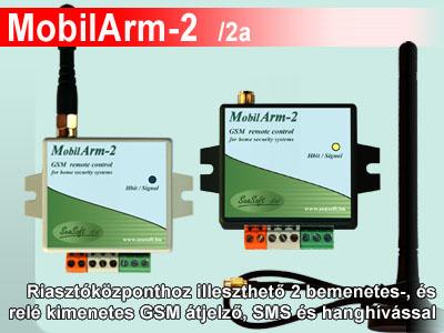 MobilArm-2 riasztóközponthoz illeszthető GSM