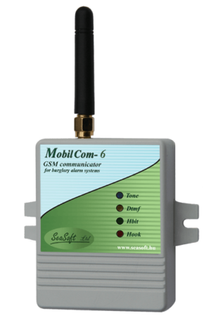 A MobilCom-6 GSM hívó és vonalpótló modul riasztóközponthoz