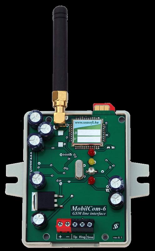 MobilCom-6p  DTMF Contact-ID telefonvonali kommunikációs eszköz