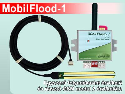 MobilFlood-1 folyadékszint érzékelő és riasztó