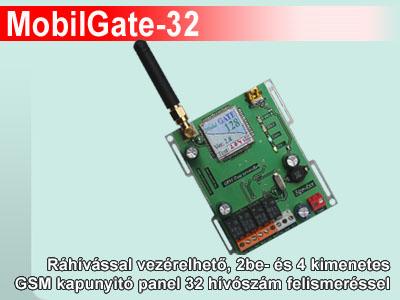 MobilGate-32 GSM kapunyitó panel 32 hívószám felismeréssel