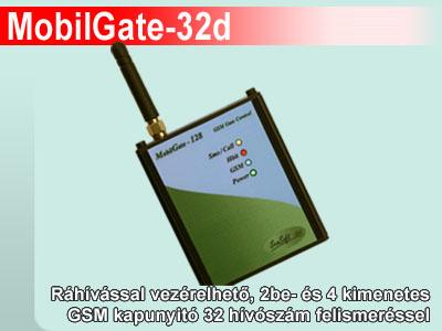 MobilGate-32d GSM kapunyitó modul 32 telefonszámra programozható
