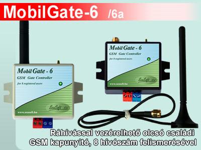 MobilGate-6 és MobilGate-6a ráhívással vezérelhető olcsó családi GSM modul