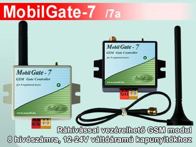 A MobilGate-7 és MobilGate-7a 8 telefonszámra programozható GSM modul