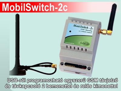 MobilSwitch-2c GSM távjelző és távkapcsoló GSM modul