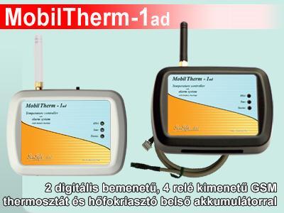 MobilTherm-1ad - GSM termosztát, távjelző és hőmérséklet riasztó