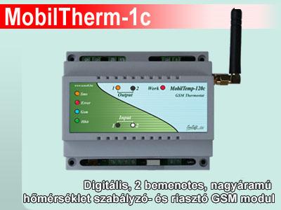 MobilTherm-1c - Ipari GSM termosztát, távjelző és hőmérséklet riasztó