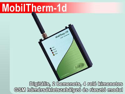 MobilTherm-1 és MobilTherm-1d digitális 2 bemenetes GSM hőmérsékletszabályzó