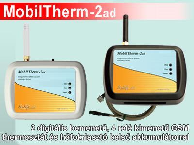 MobilTherm-2d GSM alapú távjelző és hőfokriasztó modul