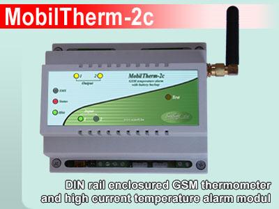 MobilTherm-2c - Ipari távjelző és hőfokriasztó GSM modul