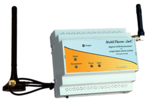 A MobilTherm-2mc hőfokriasztó 4 telefonszámra programozható fel