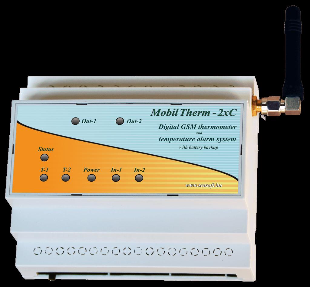 """A MobilTherm-2xc nagyáramú hőfokjelző és hőfokriasztó modul """"C""""sines kiépítésben"""