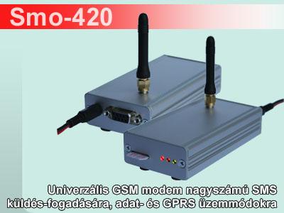 Smo-420 univerzális GSM modem tápegységgel
